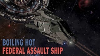 getlinkyoutube.com-Elite: Dangerous. Nuclear Vessel Federal Assault Ship