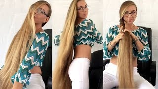 RealRapunzels - Amazing knee length hair play