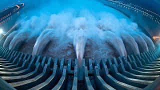 getlinkyoutube.com-Emergency water discharge from the dam TOP 25 -=HD=-