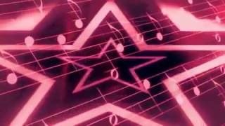 Pink Star Music Motion Background