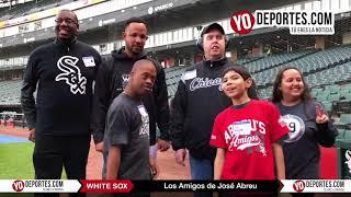 Los Amigos de José Abreu de escuela Easterseals visitan el Estadio de los Medias Blancas de Chicago