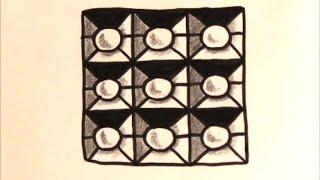 getlinkyoutube.com-[だれでも描ける!線画アート] 立体的なブロックの絵の描き方[ゼンタングル]  How to draw zentangle