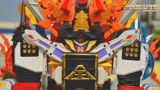 getlinkyoutube.com-[TMT][063] Review DX Ushi Origami! MouGyuuDai-Oh! Samurai Ha-Oh! 侍合体 DX モウギュウダイオー