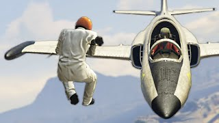 getlinkyoutube.com-HE GOT STUCK ON MY WING! (GTA 5 Funny Moments)