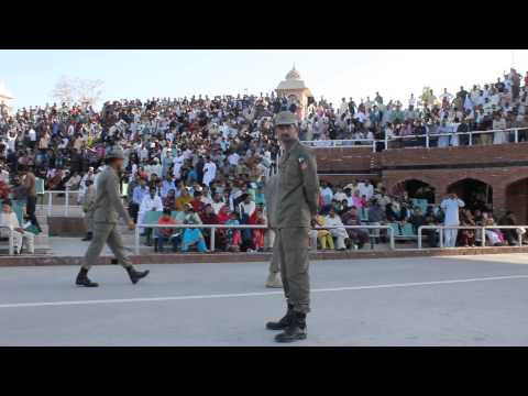 Wahga Border Lahore Daily Parade - Flag Lowering Ceremony