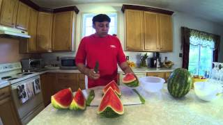 getlinkyoutube.com-COMO CORTAR UNA SANDÌA  ..........       HOW TO CUT A WATER MELON