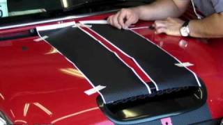 getlinkyoutube.com-3M Di-Noc Carbon Fiber Vinyl Racing Stripe Installation