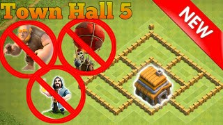 Clash of Clans | Th5 hybrid base anti everything | Clash of Clan base