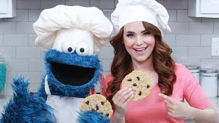 getlinkyoutube.com-CHOCOLATE CHIP COOKIES w/ COOKIE MONSTER! - NERDY NUMMIES