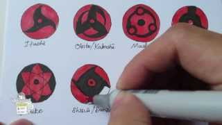 getlinkyoutube.com-How to draw all Mangekyou Sharingan 万華鏡写輪眼