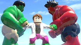 getlinkyoutube.com-HULK VS CURT CONNORS(TRANSFORMATION) VS RED HULK - LEGO MARVEL SUPER HEROES GAME