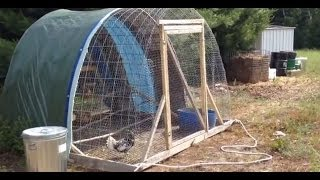 "getlinkyoutube.com-Portable Chicken Tractor ""The Hoop Coop"""