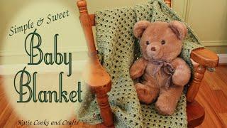 getlinkyoutube.com-Crochet Baby Blanket Tutorial - Simple and Sweet Afghan
