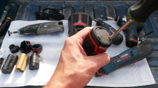 getlinkyoutube.com-HowTo: Interchange Your Bosch & Dremel 12V Max Li-Ion Batteries ~8220 Multi-Max 8200 PS41