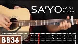 getlinkyoutube.com-Sa'yo - Silent Sanctuary Guitar Tutorial - Holiday Special (fingerstyle, TAB)