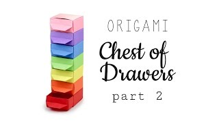 getlinkyoutube.com-Origami Chest of Drawers Tutorial ♥︎ Part 2 - Drawers