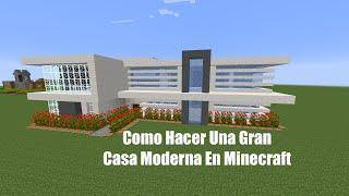 getlinkyoutube.com-Como Hacer Una Gran Casa Moderna En Minecraft (PT1)