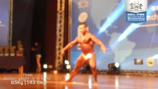 Finals - Bantam weight Up to & Incl. 65Kg (143 lbs) - 68th IFBB Men's World Amateur Bodybuilding width=