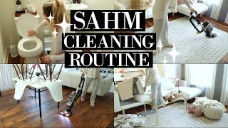 STAY AT HOME MOM CLEANING ROUTINE 2018 | SAHM POWER HOUR | SPEED CLEAN WITH ME | Tara Henderson