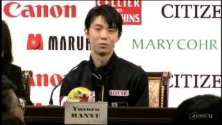 getlinkyoutube.com-羽生結弦 2015フィギュアスケート世界選手権FP後記者会見-2 + セレモニー