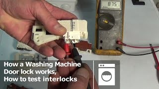 getlinkyoutube.com-How a washing machine door lock works, how to test interlocks
