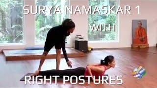 getlinkyoutube.com-Surya Namaskar with right postures - Sun Salutation