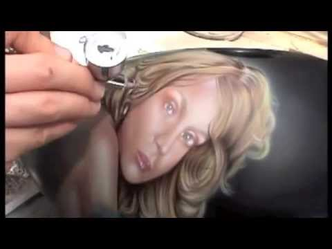 Airbrushed Medusa Portrait Harley Tank : Part 4