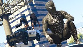 getlinkyoutube.com-GTA 5 Mods - BLACK SPIDERMAN MOD! GTA 5 Symbiote Spiderman Mod Gameplay! (GTA 5 Mods Gameplay)