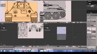getlinkyoutube.com-Blender 3D Создание Танка Т-34 (1 часть)
