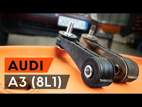 Как заменить переднюю стойку стабилизатора AUDI A3 1 (8L1) [ВИДЕОУРОК AUTODOC]