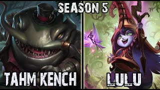 Tahm Kench vs Lulu Support Ranked Challenger NA