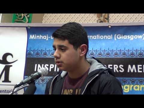 Brother Junaid's speech in 1st Inspiring Leaders Mentoring Program at MQI Glasgow on 27 03 2014