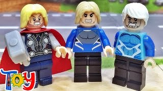 getlinkyoutube.com-ok 레고 어벤져스 토르퀵실버 중국 짝퉁 미니피규어 조립 리뷰 Lego avengers quicksilver thor minifigure
