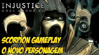 Scorpion gameplay no Injustice: Gods Among Us - O mais novo personagem DLC