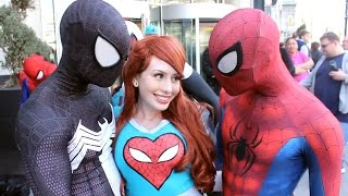 getlinkyoutube.com-Spider-Man: Spider-Verse Flash Mob Prank