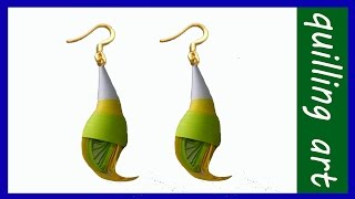 getlinkyoutube.com-Paper quilling - Making new 2015 And 2016model earrings