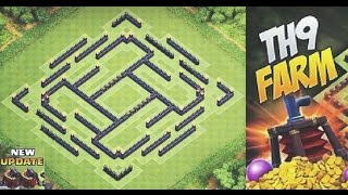 Clash of Clans - TH9 (Best) Farming Base + 2 Air Sweeper 2015 | Speed Build