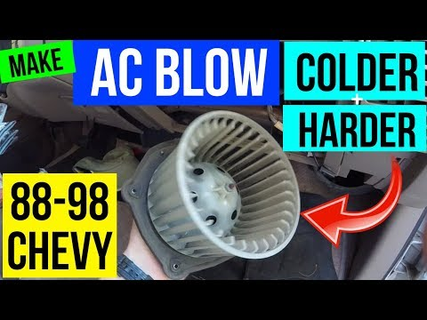 How To Make your AC Blow COLDER & HARDER 88-98 Chevy GMC -Jonny DIY