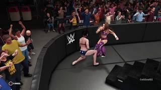 WWE 2K18 Miesha Tate Finishes Wonder Woman With The Shining Wizard - Match Highlight