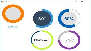 C# Tutorial - Circle Progress Bar | FoxLearn