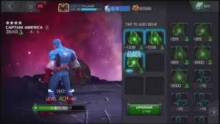 getlinkyoutube.com-Marvel Contest of Champions DOUBLE RANK UP Captain America 4/40