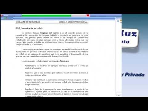 CURSO VIGILANTE SEGURIDAD. AREA SOCIO PROFESIONAL TEMA 4, LA COMUNICACION.