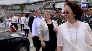 getlinkyoutube.com-Chile President Bachelet arrives in Manila for the APEC 2015 Summit