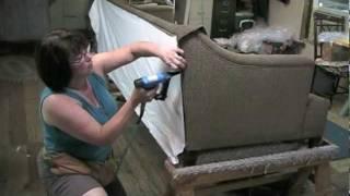getlinkyoutube.com-Upholstery How To Upholster The Outside  Back On A Sofa