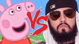getlinkyoutube.com-Peppa Pig vs Mussoumano | Batalha Cartoon