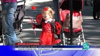 Cientos de niños disfrazados disfrutaron del zoológico de Naples