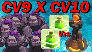getlinkyoutube.com-PT CV9 x CV10 GoWiPe com 5Golens 2Pulos - TH9 x TH10 3Star GoWiPe Perfect Attack