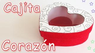Caja Corazon regalo para San Valentin - Manualidades Para Todos