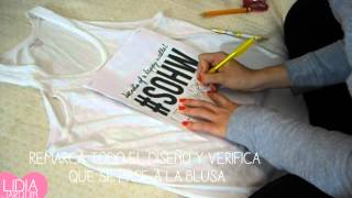 getlinkyoutube.com-Cómo estampar tus playeras!! Súper tip!! DIY