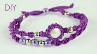 getlinkyoutube.com-Macrame Double Bracelet - Tutorial